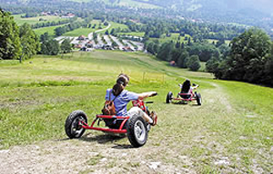 Downhill-Race im Bullcart